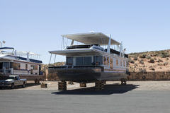 Floating house on land parking in Utah, USA Royalty Free Stock Photos