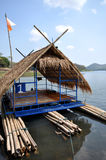 Floating house on river Royalty Free Stock Photos