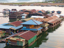 Floating house at Sangkha Stock Image