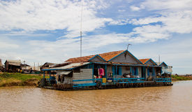 Floating house on Tonle Sap Stock Image