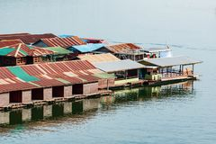 The floating house village royalty free stock images