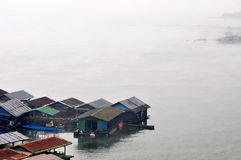 Floating House village Stock Images