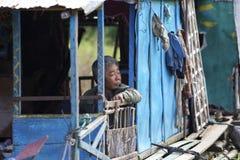 Floating Houseboat Cambodia Royalty Free Stock Images