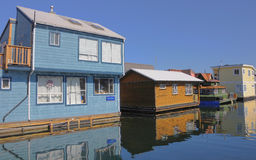 Floating houses royalty free stock photography
