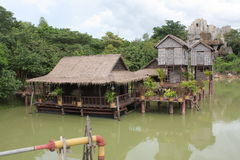 Floating houses in Cambodia Royalty Free Stock Photo