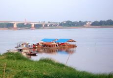 Floating Houses, Kompong Cham Royalty Free Stock Photos