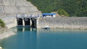 Floating houses on the lake, landscape Royalty Free Stock Image