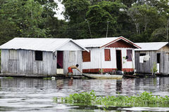 Floating houses in Manaus, Amazon, Brazil Stock Image