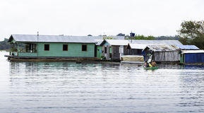 Floating houses in Manaus, Amazon, Brazil Stock Photos