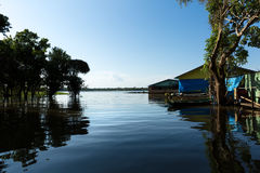 Floating houses in Manaus, Amazon, Brazil Royalty Free Stock Photos