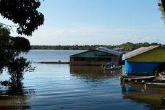 Floating houses in Manaus, Amazon, Brazil Stock Images