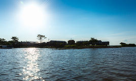 Floating houses in Manaus, Amazon, Brazil Stock Photography