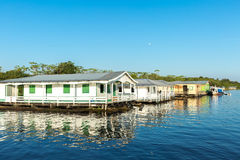 Floating houses in Manaus, Amazon, Brazil Royalty Free Stock Image