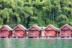 Floating houses or raft houses Stock Images