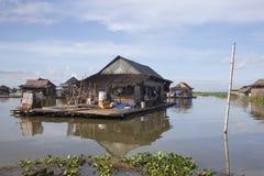 Floating houses Tempe lake royalty free stock image