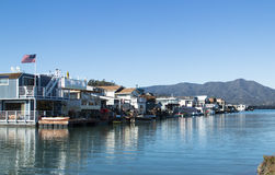 Floating houses in USA Stock Photo