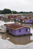 Floating houses, Uthai Thani, Thailand. Colorful floating houses on Sakae Krang River, Uthai Thani, Thailand on 11 October 2015 stock images