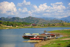 Floating houses, wangka, mon minority village Stock Photography