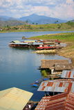 Floating houses, wangka, mon minority village Stock Photo