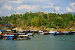 Floating houses, wangka, mon minority village Stock Image