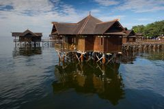 Floating hut Stock Image