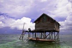 Floating hut Royalty Free Stock Image