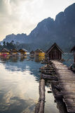 Floating hut Stock Images