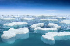 Floating ice. Ice floating on the ocean. Hi-res digitally generated image