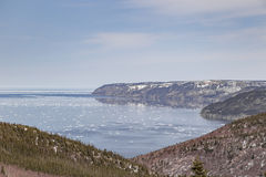 Floating Ice at Cabot Trail Stock Photography