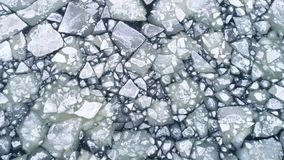 Floating ice floes on water, aerial view royalty free stock images