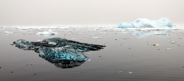 The floating ice in Greenland. The floating ice photo taken on the boat sailing the coast in Greenland Stock Image