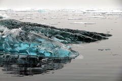 The floating ice in Greenland. The floating ice photo taken on the boat sailing the coast in Greenland Stock Images