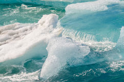 Floating Ice. Ice floating on Jokulsarlon Ice Lagoon royalty free stock photo