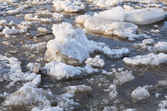 Floating of ice Royalty Free Stock Photo
