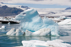 Floating iceberg at ice lagoon Jokulsarlon, Iceland Royalty Free Stock Image