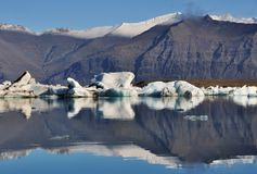 Floating iceberg in Jokuldarlon Lagoon Royalty Free Stock Images
