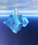 Floating Iceberg in the Open Ocean with Horizon Royalty Free Stock Photography
