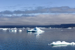 Floating Icebergs, Greenland Stock Images