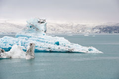 Floating icebergs at ice lagoon Jokulsarlon, Iceland Stock Photos