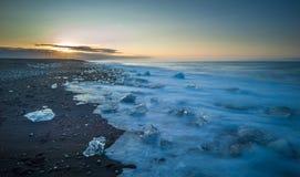 Floating icebergs in Jokulsarlon Glacier Lagoon, Iceland Royalty Free Stock Image