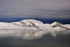Floating icebergs, panorama view, Iceland Stock Image