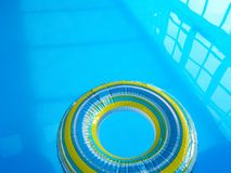 Floating inflatable pool ring Stock Images