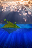 Floating Island Royalty Free Stock Photos