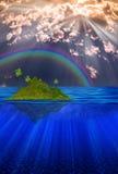 Floating Island Royalty Free Stock Image