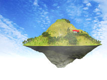 Floating Island Royalty Free Stock Photography