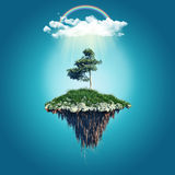 Floating island background Royalty Free Stock Photo