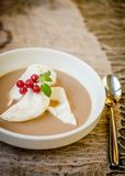 Floating island dessert Stock Image