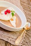 Floating island dessert Stock Images