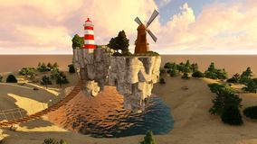 The floating island stock video footage