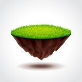 Floating island with green grass vector Royalty Free Stock Image